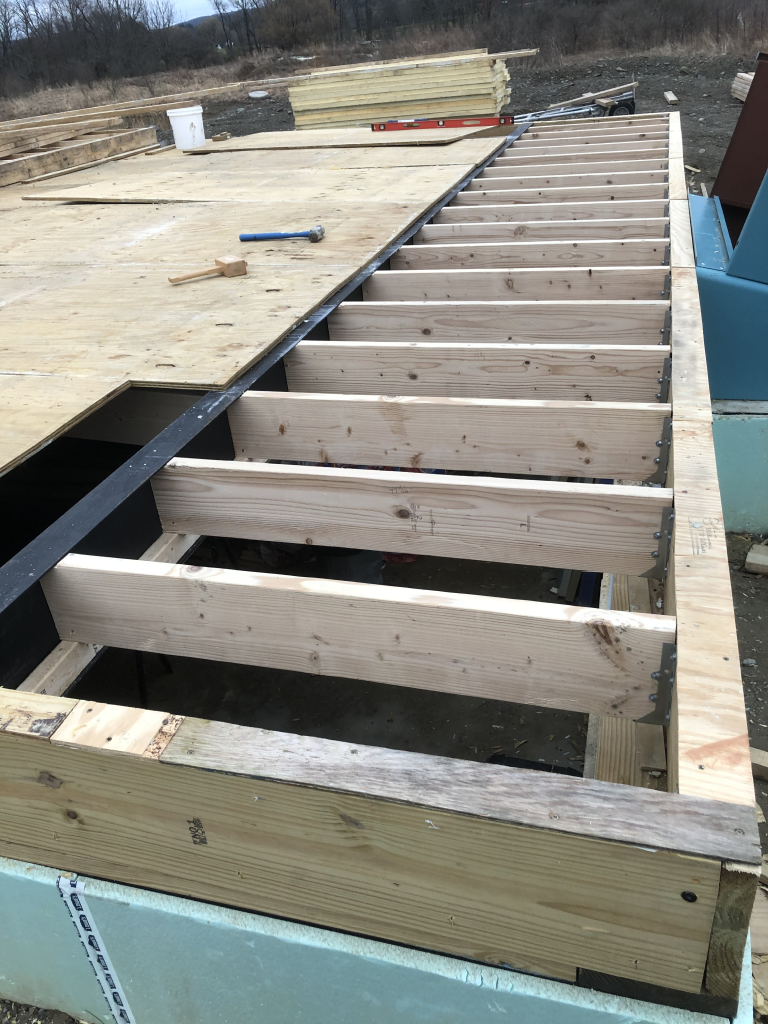 New joists installed