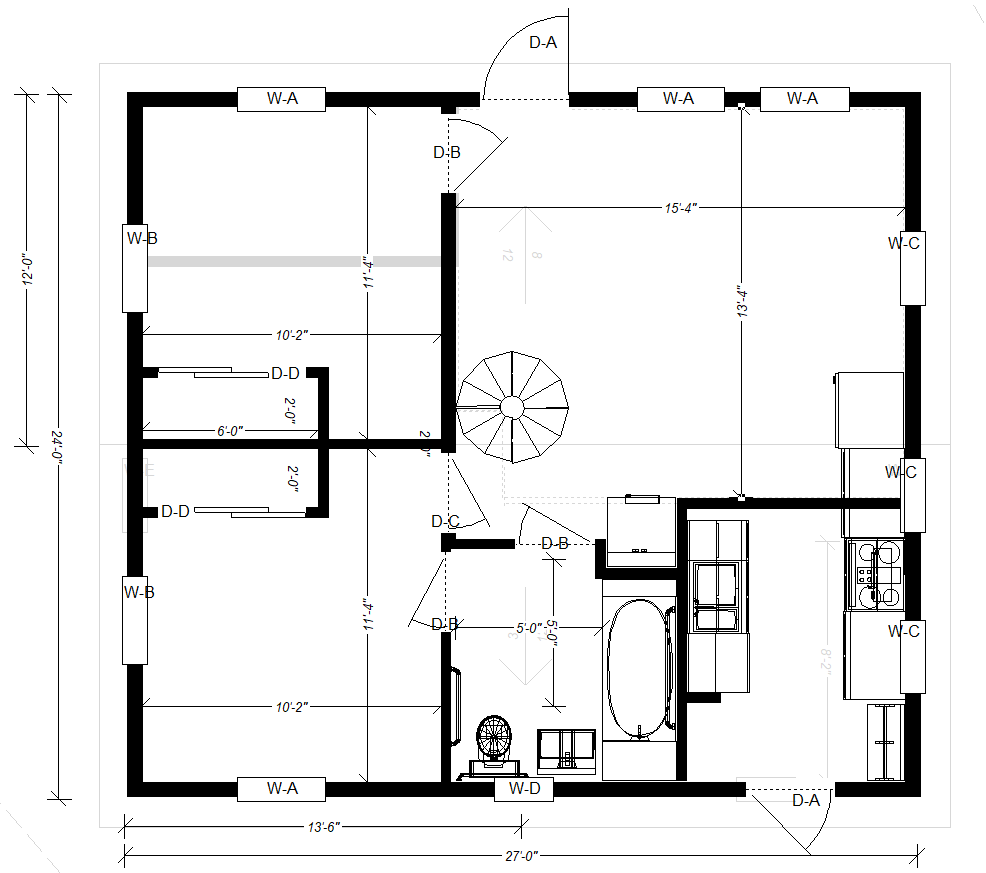 Floor Plan After Wall Adjustments