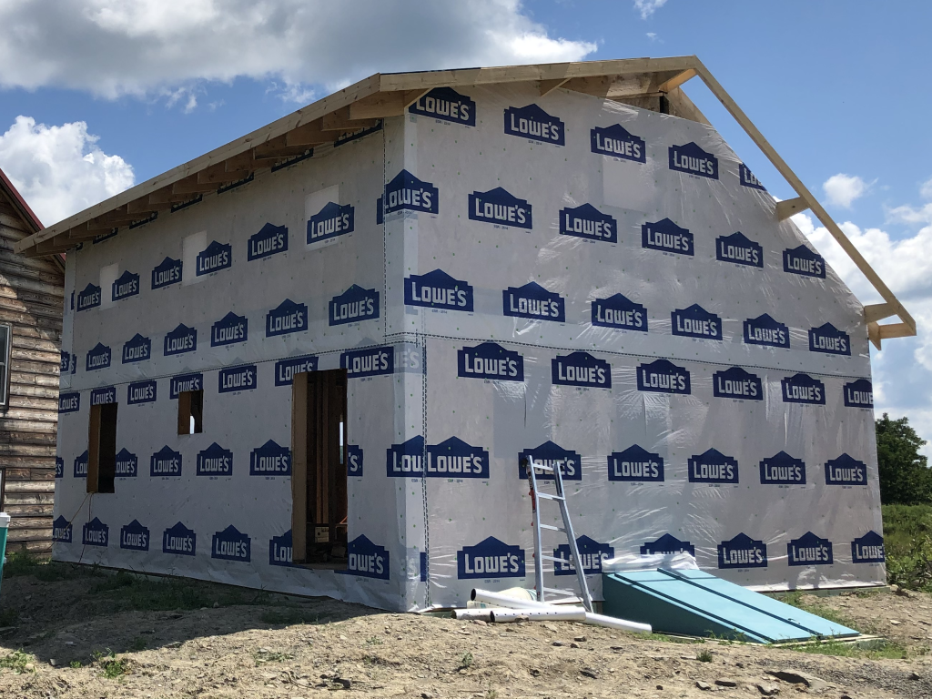 2020-08-16 House Wrap, Gable Ends, and Fascia